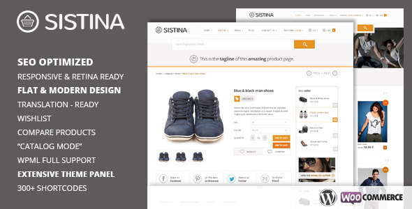 Live Preview of Sistina - Flat Multipurpose Shop Theme