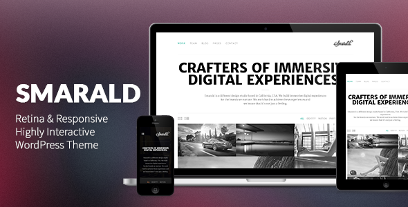Live Preview of Smarald: Retina Ready Responsive WordPress Theme