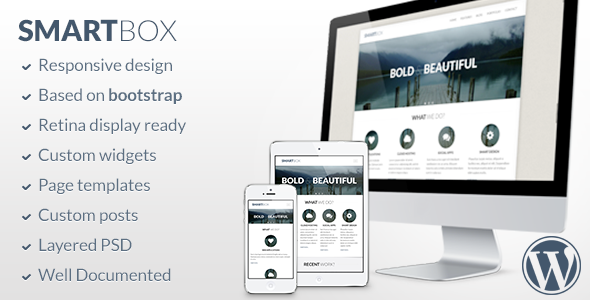 Live Preview of SmartBox - Responsive Wordpress Bootstrap Theme