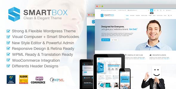 Live Preview of SmartBox. Responsive Multi-Purpose Wordpress Theme