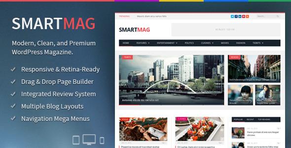 Live Preview of SmartMag - Responsive & Retina WordPress Magazine
