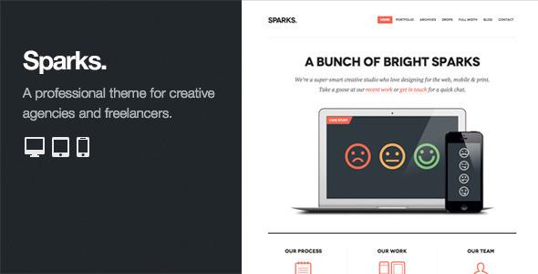 Live Preview of Sparks: Professional WordPress Portfolio Theme