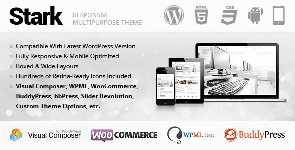 Live Preview of Stark Responsive Multipurpose WordPress Theme