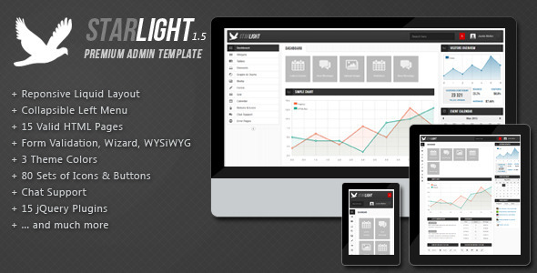Live Preview of Starlight Reponsive Admin Template