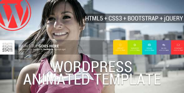 Live Preview of Statti - Animated Wordpress Template