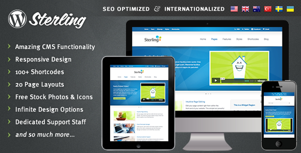 Live Preview of Sterling - Responsive Wordpress Theme