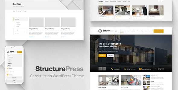 Live Preview of StructurePress - Construction, WP Theme