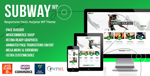 Live Preview of Subway - Responsive Multi-Purpose WordPress Theme