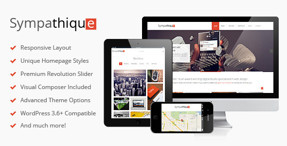 Live Preview of Sympathique - Responsive WordPress Theme