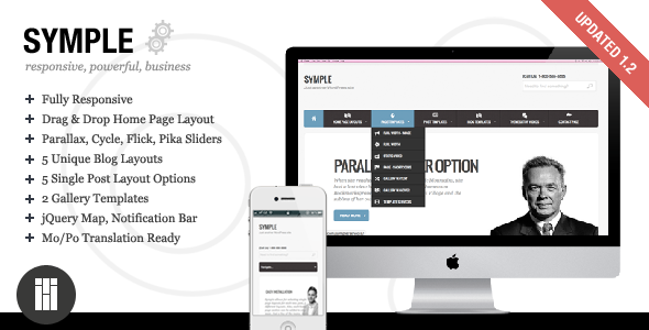 Live Preview of Symple - Business, Responsive, WordPress