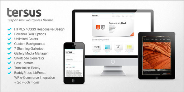 Live Preview of Tersus - Responsive WordPress Theme