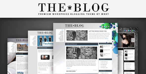 Live Preview of The Blog WordPress Theme