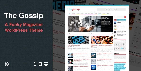 Live Preview of The Gossip: Funky Magazine WordPress Theme