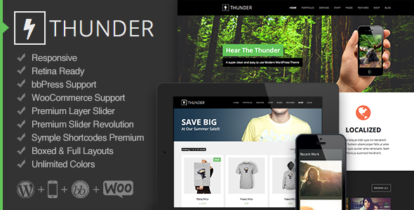Live Preview of Thunder - Responsive Multi-Purpose Theme
