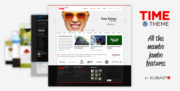 Live Preview of Time - Responsive WordPress Theme