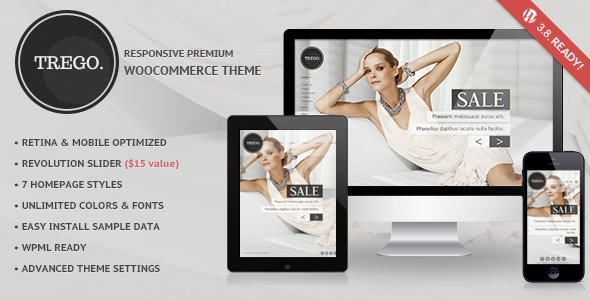 Live Preview of Trego - Ultimate Responsive Woocommerce Theme