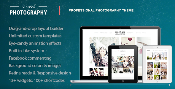 Live Preview of Tripod - Professional WordPress Photography Theme