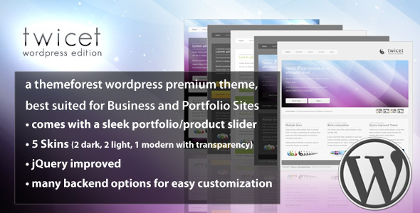 Twicet Business & Portfolio - Wordpress - 5 in 1