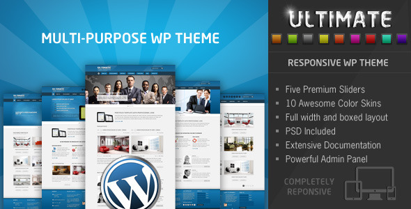 Live Preview of Ultimate - Multi Purpose Responsive WP Theme