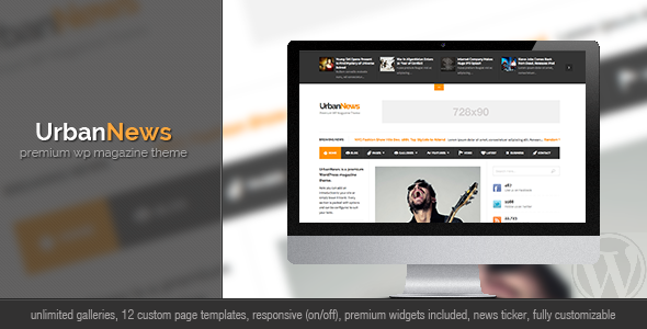 Live Preview of UrbanNews - WP Magazine Theme