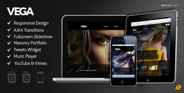 Live Preview of VEGA - WordPress Responsive Theme