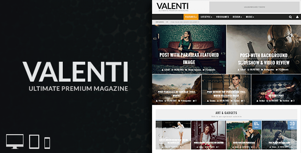 Live Preview of Valenti - WordPress HD Review Magazine News Theme