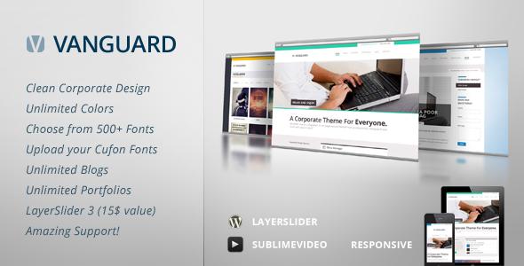 Live Preview of Vanguard: Business & Portfolio WordPress Theme
