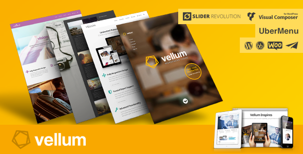 Live Preview of Vellum - Responsive WordPress Theme