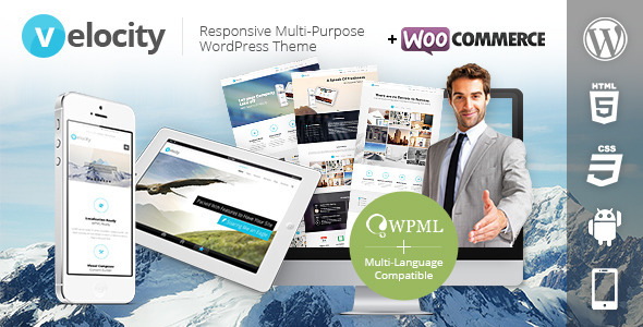 Live Preview of Velocity Responsive Multi-Purpose WordPress Theme