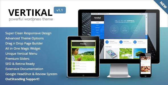 Live Preview of Vertikal | Responsive WordPress Theme
