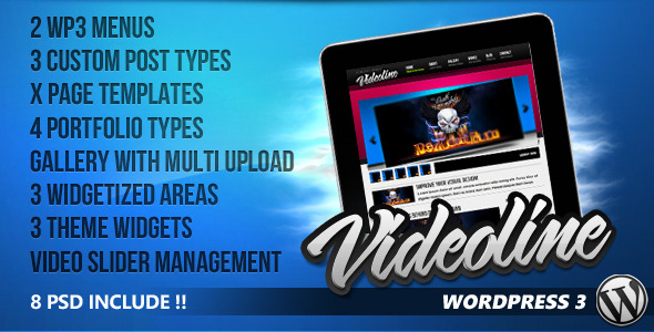 Live Preview of Videoline - Wordpress Magazine