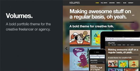 Live Preview of Volumes: Responsive Portfolio WordPress Theme
