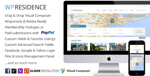 Live Preview of WP Residence - Real Estate WordPress Theme