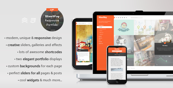 Live Preview of WowWay - Interactive & Responsive Portfolio Theme
