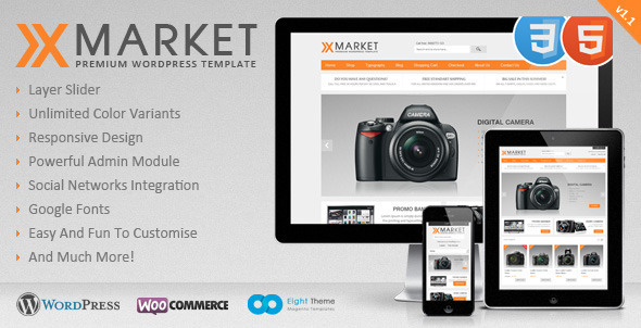 Live Preview of XMarket - Responsive WordPress E-Commerce Theme