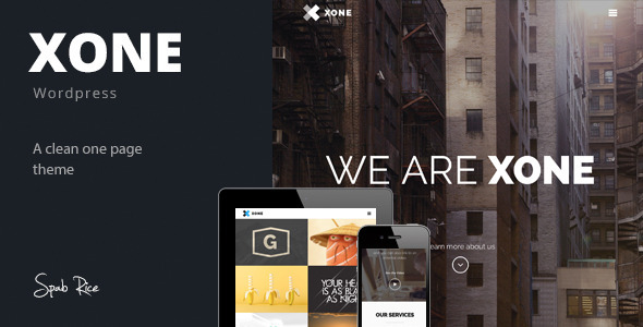 Live Preview of Xone - Clean One Page Wordpress Theme