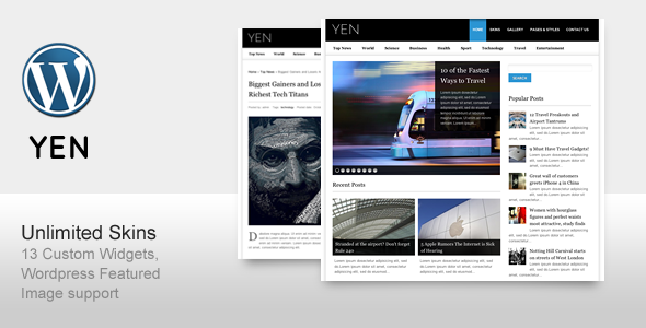YEN - Revista Noticias y la plantilla del blog de Wordpress (es)