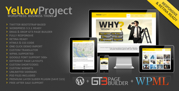 Live Preview of YellowProject Multipurpose Retina WP Theme