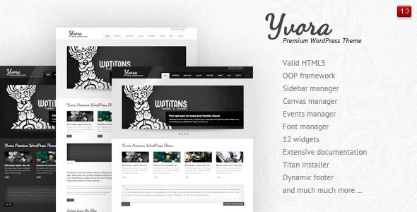 Live Preview of Yvora - Premium WordPress Theme