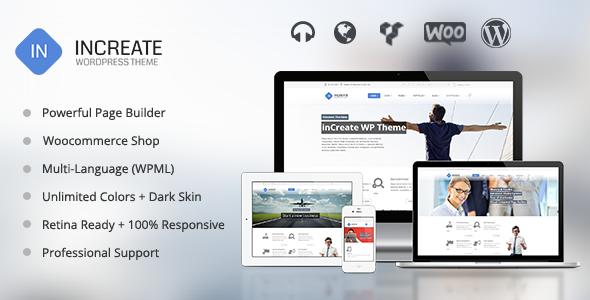 Live Preview of inCreate - Responsive MultiPurpose WordPress Theme