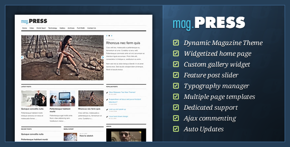 Live Preview of mag.Press - WordPress Magazine Theme