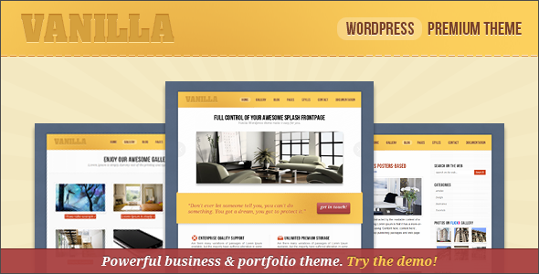 Live Preview of vanilla - Corporate & Portfolio Wordpress Theme